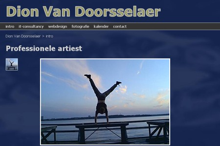website Dion Van Doorsselaer